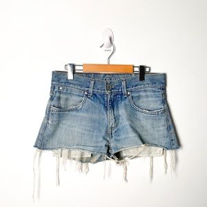 Vintage Levi's Distressed Jean Shorts